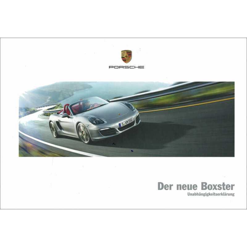 Catalogue PORSCHE BOXSTER 2011