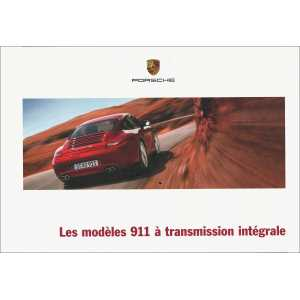 Catalogue PORSCHE 991 Transmission Intégrale 2011