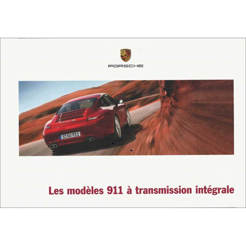 Catalogue PORSCHE 991 Transmission Intégrale 2011