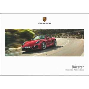 Catalogue PORSCHE BOXSTER 2015
