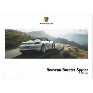 Catalogue PORSCHE BOXSTER SPYDER 2015