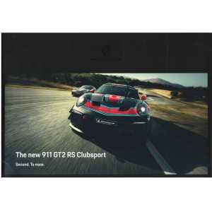 Catalogue PORSCHE 991 GT2 RS Club Sport de 2018 (Anglais)