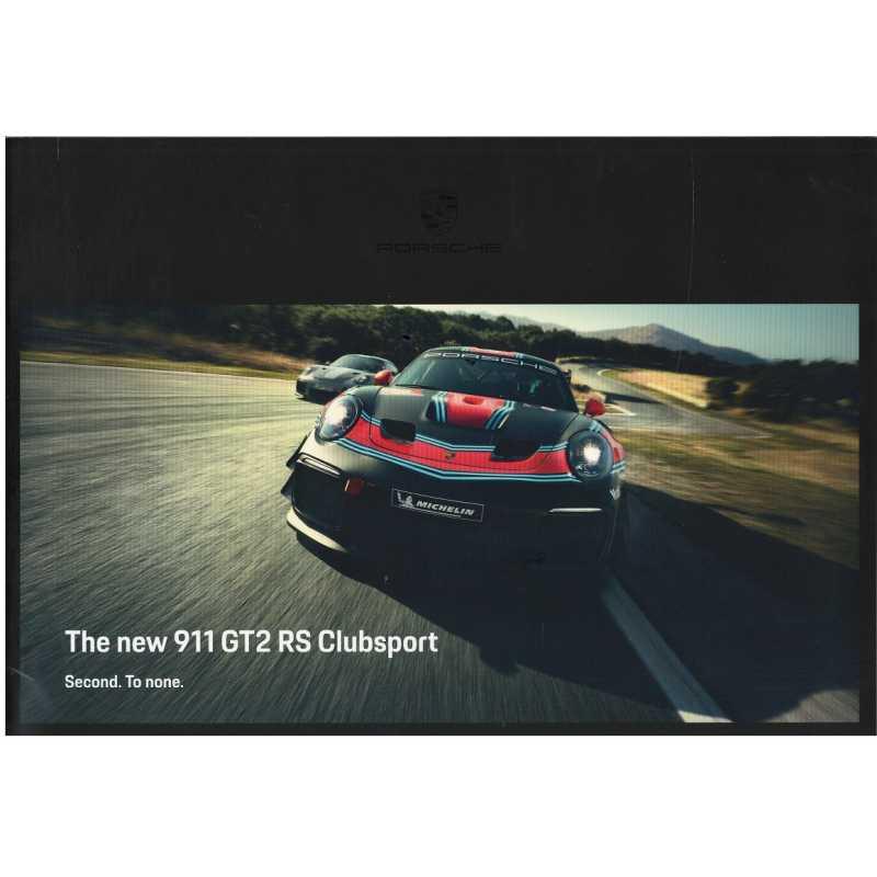 Catalogue PORSCHE 991 GT2 RS Club Sport de 2018 (Anglais)