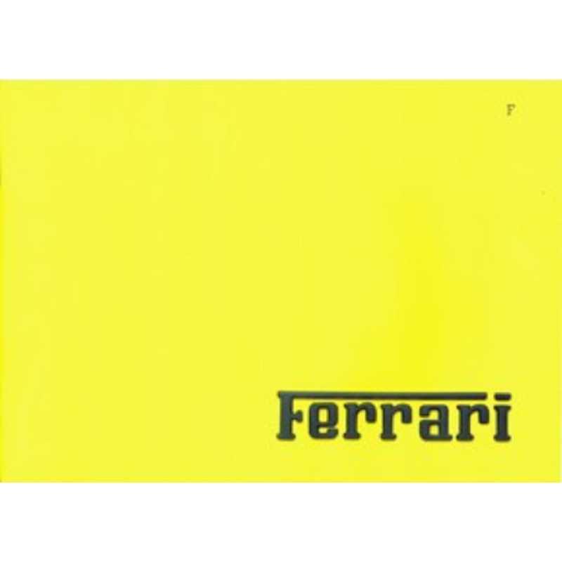 Catalogue Ferrari 1986