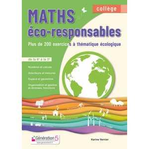 **livre scolaire** Maths éco-responsables - Collège de la 6e à la 3e - Génération 5 9782362463785