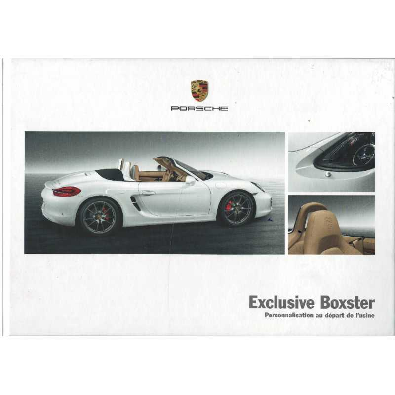 Catalogue PORSCHE BOXSTER EXCLUSIVE  (Français) 12/11 ***Librairie Automobile SPE***