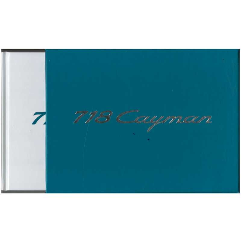 Catalogue PORSCHE 718 CAYMAN  (Allemand) 02/16