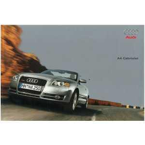 Catalogue Audi A4 Cabriolet  (Français) 09/05** Librairie SPE **
