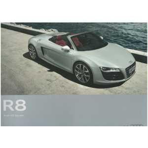 Catalogue Audi R8 Spyder (Français) 07/10  ** Librairie SPE **