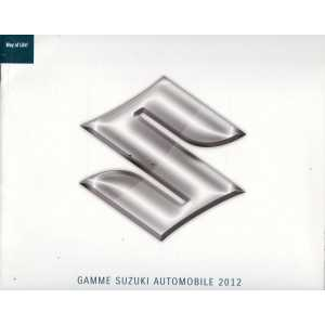Catalogue SUZUKI - Gamme et tarifs 2012