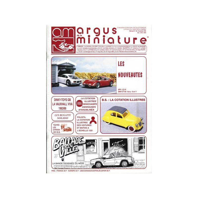 ARGUS MINIATURE N°169 - BUGATI SOLIDO Librairie Automobile SPE ARGUS169