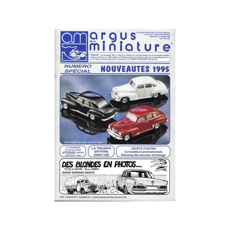 ARGUS MINIATURE N°172 - SPECIAL NOUVEAUTES 1995 Librairie Automobile SPE ARGUS172