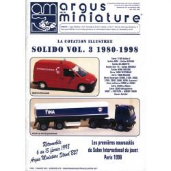 ARGUS MINIATURE N°189 - SOLIDO 1980-1998 VOL.3 Librairie Automobile SPE ARGUS189