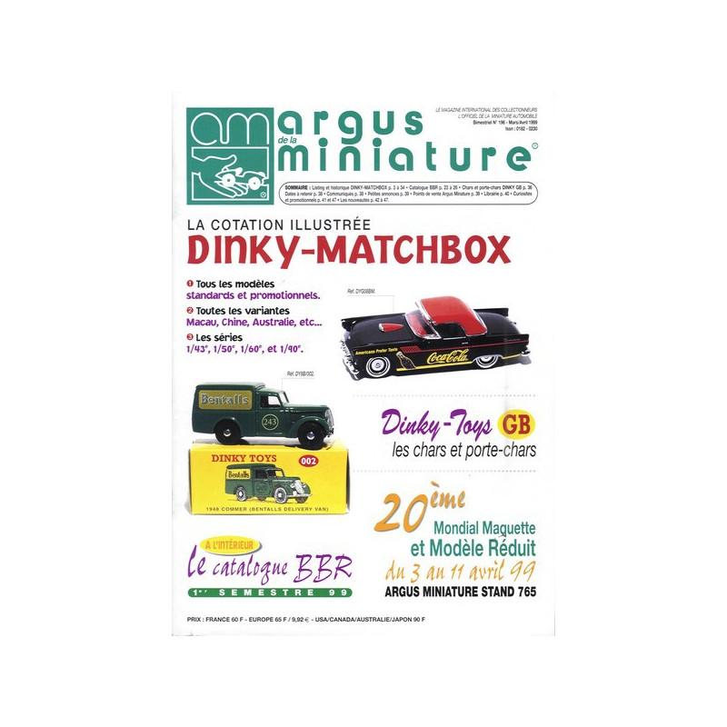 ARGUS MINIATURE N°196 - DINKY - MATCHBOX Librairie Automobile SPE ARGUS196