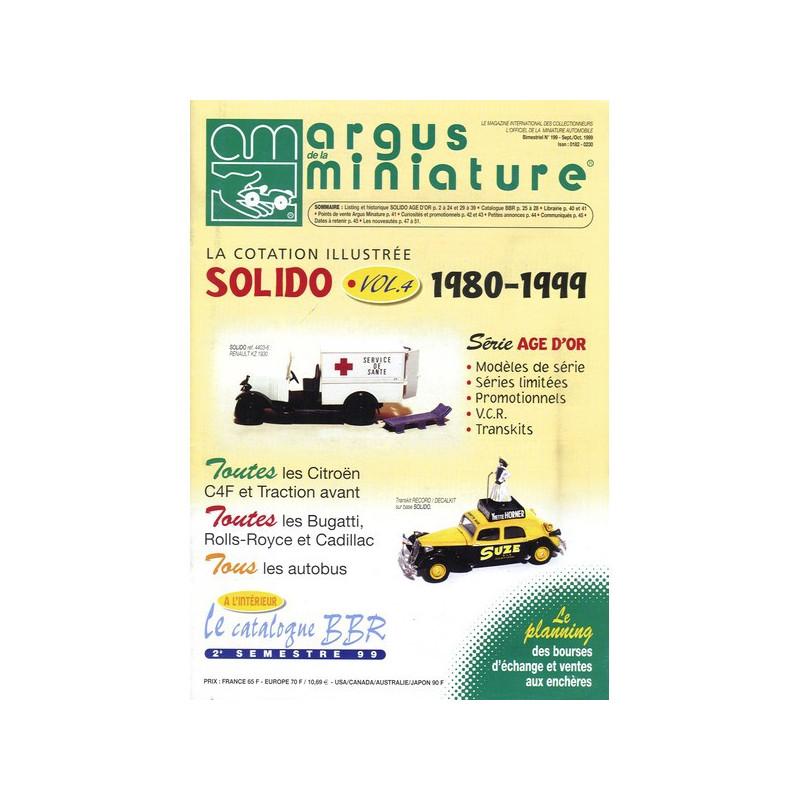 ARGUS MINIATURE N°199 - SOLIDO VOL.4 1980-1999 Librairie Automobile SPE ARGUS199
