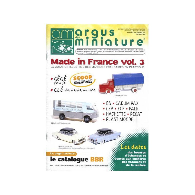 ARGUS MINIATURE N°204 - MADE IN FRANCE VOL.3 Librairie Automobile SPE ARGUS204
