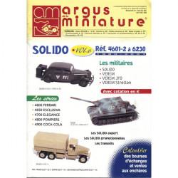 ARGUS MINIATURE N°211 - SOLIDO VOL.6 4601-2 A 6230 Librairie Automobile SPE ARGUS211