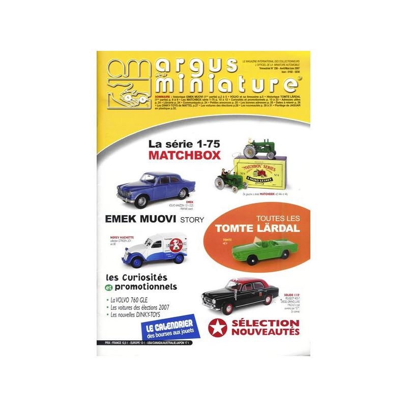 ARGUS MINIATURE N°238 - MATCHBOX REGULAR Librairie Automobile SPE ARGUS238