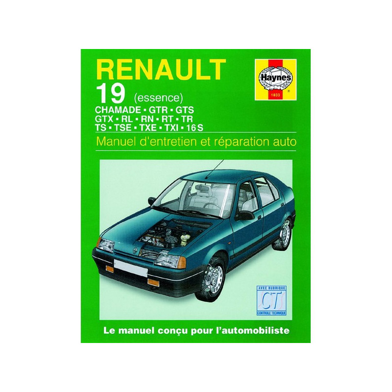 renault 19 essence manuel d entretien et r paration auto haynes. Black Bedroom Furniture Sets. Home Design Ideas