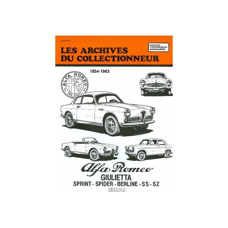 Alfa Romeo Giulietta Sprint Spider Berline SS SZ 1954-1963