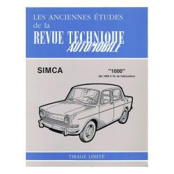 RTA 260/360/394 Simca 1000 de 1969 à fin de fab. Librairie Automobile SPE RTA260