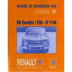RENAULT 8 GORDINI - MANUEL DE REPARATION Librairie Automobile SPE P100