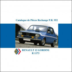 RENAULT 12 GORDINI - CATALOGUE DE PIECES Librairie Automobile SPE P103